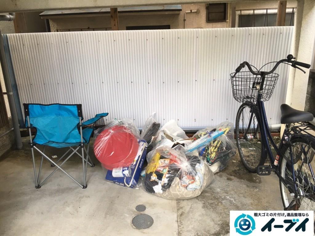 2017年1月24日大阪府三島郡島本町でガレージの廃品や家具などの粗大ゴミの不用品回収をしました。写真2