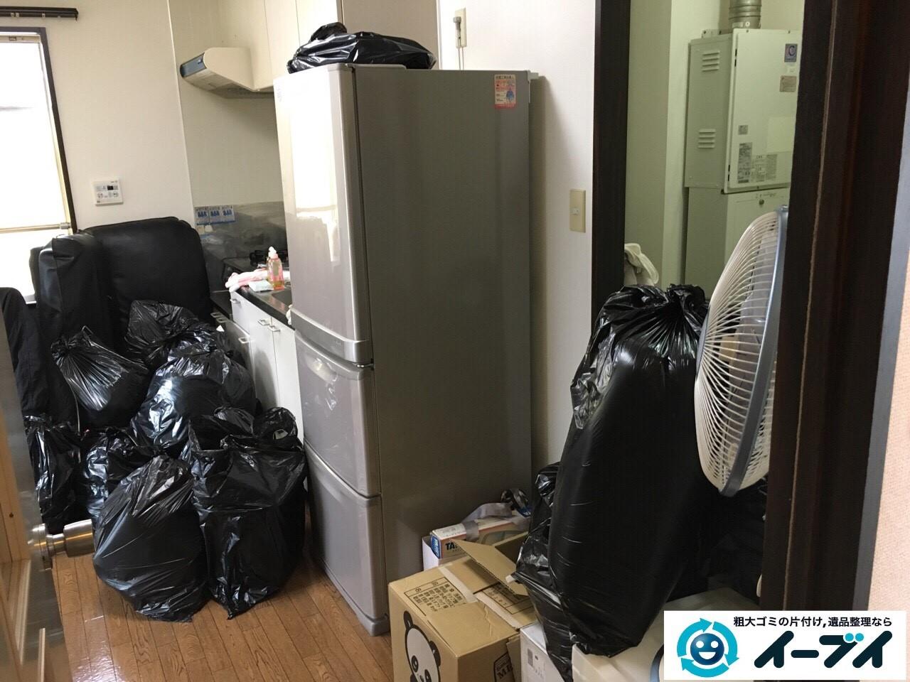 1月10日 大阪府堺市堺区で食器棚や冷蔵庫など家具や粗大ゴミの不用品回収をしました。写真3