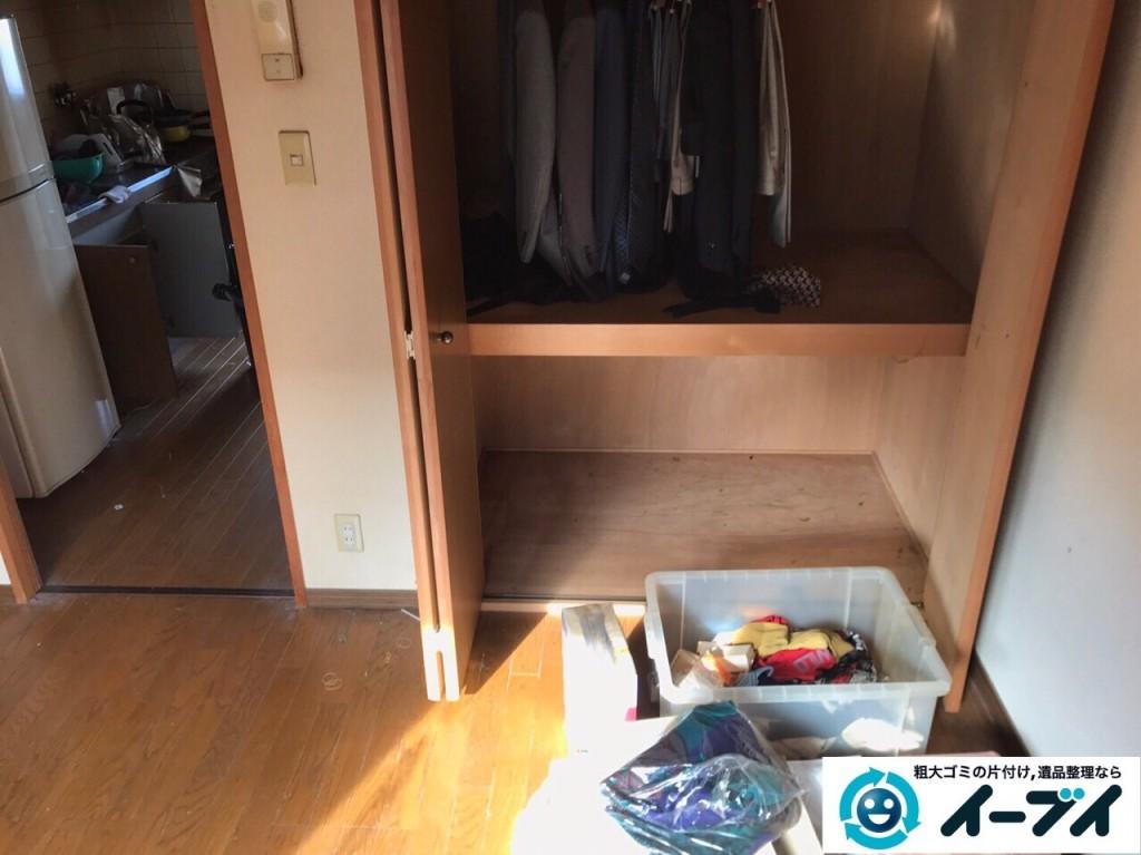 2017年1月30日大阪府大阪市城東区で遺品整理の依頼を受け家具や生活用品の片付け処分をしました。写真6