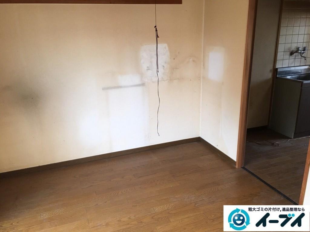 2017年1月30日大阪府大阪市城東区で遺品整理の依頼を受け家具や生活用品の片付け処分をしました。写真3