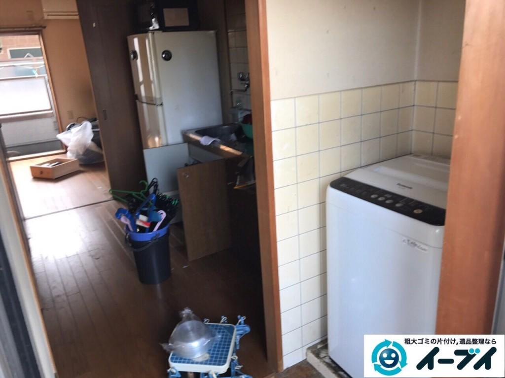 1月13日 大阪府大阪市西成区で洗濯機や食器など生活ゴミや粗大ゴミの不用品回収をしました。写真7