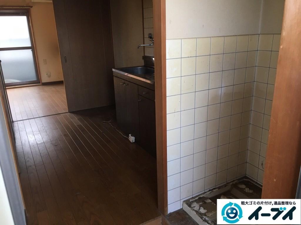 1月13日 大阪府大阪市西成区で洗濯機や食器など生活ゴミや粗大ゴミの不用品回収をしました。写真6