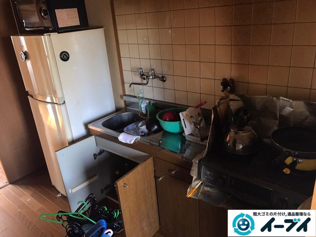 1月13日 大阪府大阪市西成区で洗濯機や食器など生活ゴミや粗大ゴミの不用品回収をしました。写真5