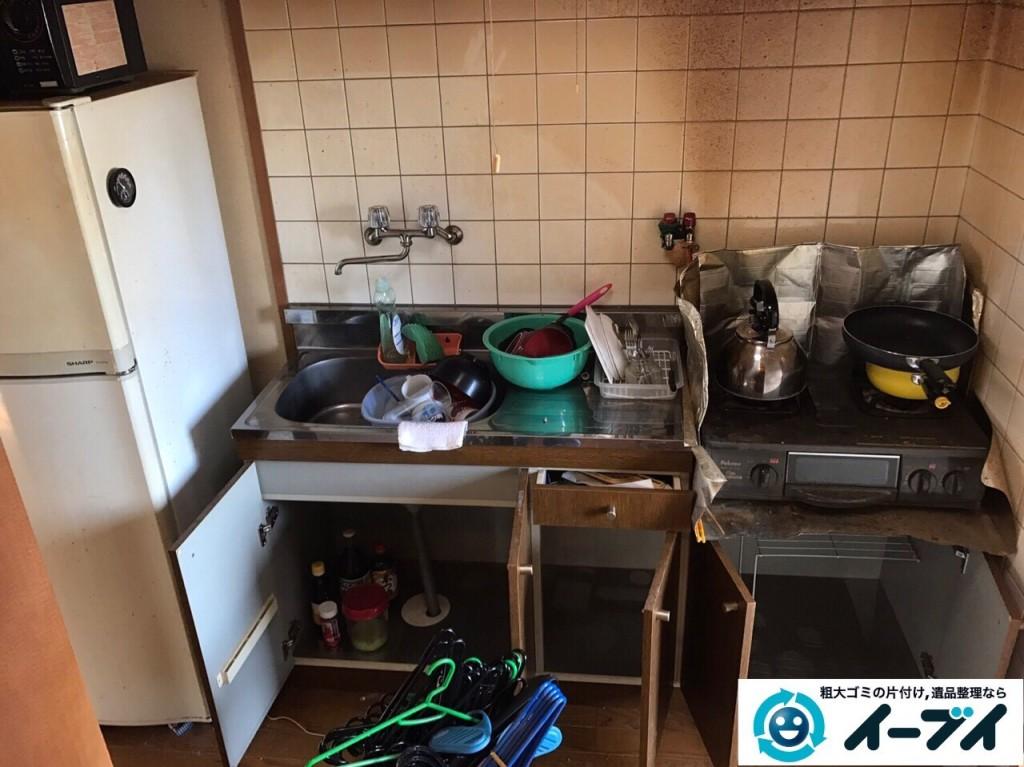 1月13日 大阪府大阪市西成区で洗濯機や食器など生活ゴミや粗大ゴミの不用品回収をしました。写真3