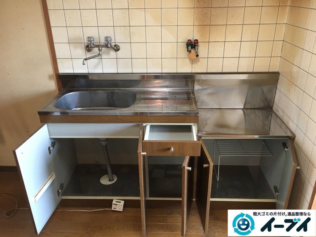 1月13日 大阪府大阪市西成区で洗濯機や食器など生活ゴミや粗大ゴミの不用品回収をしました。写真2