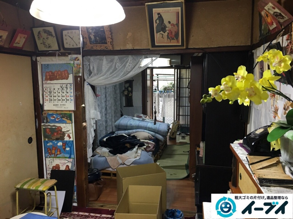 2017年1月20日大阪府堺市堺区で家具や生活ゴミなどの処分で遺品整理を行いました。写真8