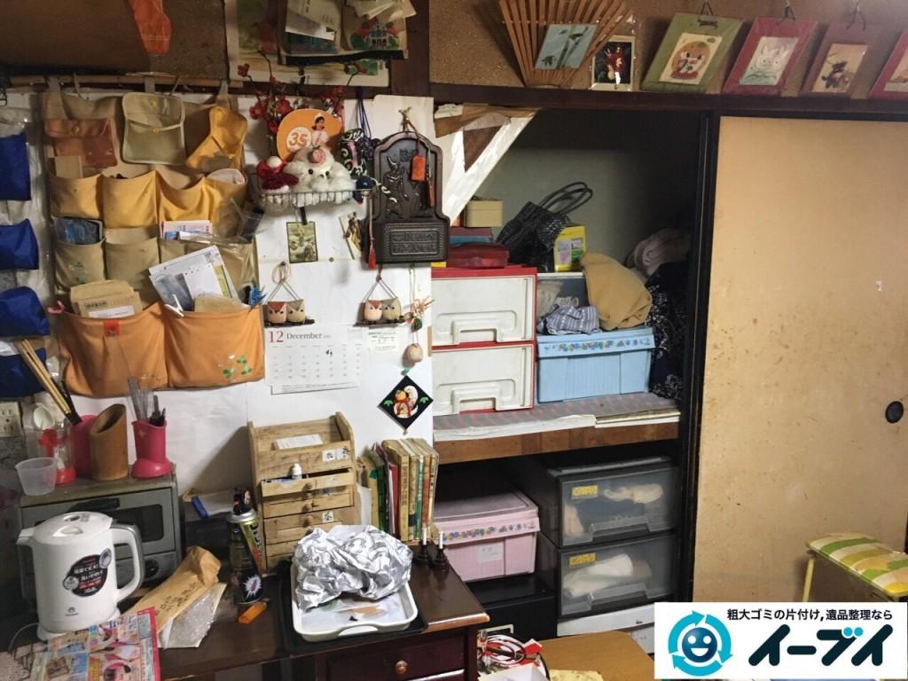 2017年1月31日大阪府大阪市淀川区で遺品整理に伴い遺品の処分や生活ゴミの片付けを行いました。写真5