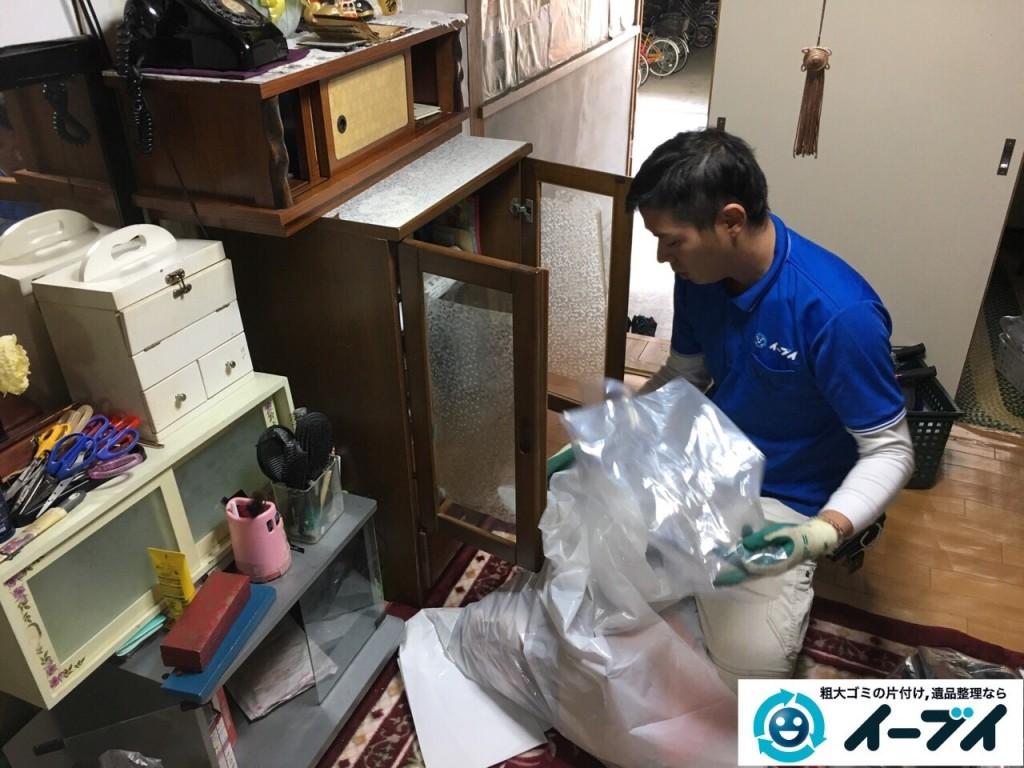 2017年1月31日大阪府大阪市淀川区で遺品整理に伴い遺品の処分や生活ゴミの片付けを行いました。写真3
