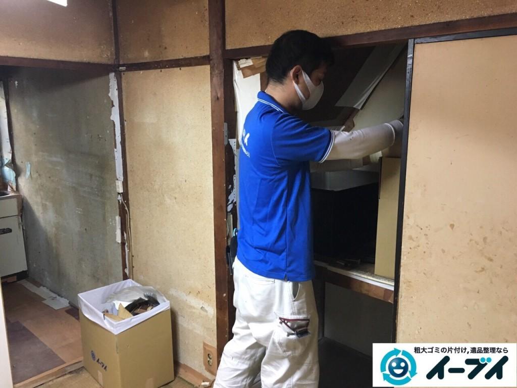 2017年1月31日大阪府大阪市淀川区で遺品整理に伴い遺品の処分や生活ゴミの片付けを行いました。写真1
