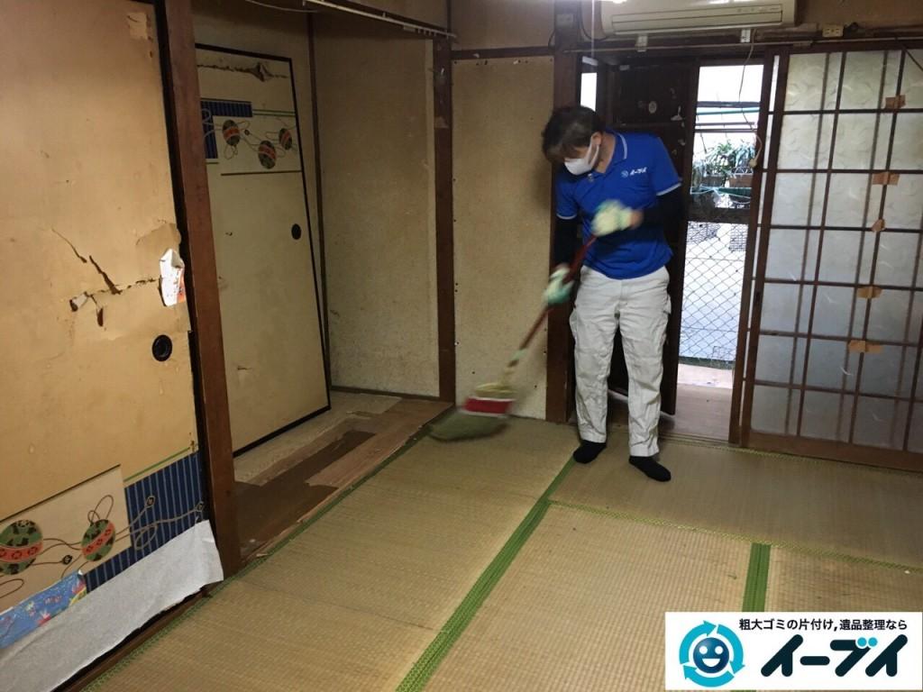 2017年1月20日大阪府堺市堺区で家具や生活ゴミなどの処分で遺品整理を行いました。写真1
