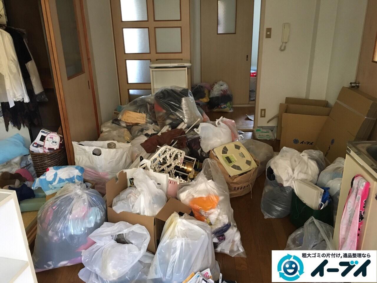 1月14日 大阪府大阪市西淀川区で引越しに際に出たゴミや粗大ゴミ等を丸ごと不用品回収しました。写真2