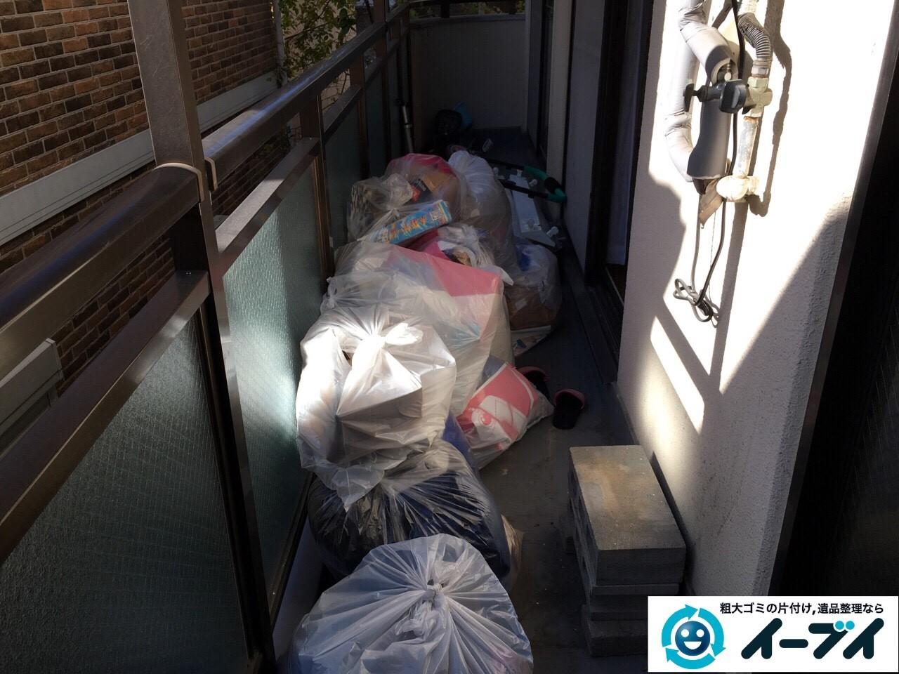 2017年1月21日大阪府堺市南区でベランダの粗大ゴミや廃品の不用品回収をしました。写真1