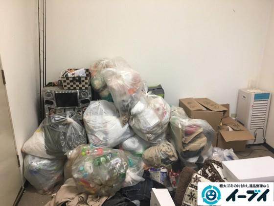 2017年1月17日 大阪府交野市でベランダや部屋に溢れているゴミ屋敷の片付けをしました。写真1