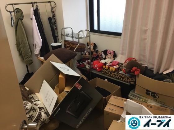 2017年1月17日 大阪府交野市でベランダや部屋に溢れているゴミ屋敷の片付けをしました。写真5