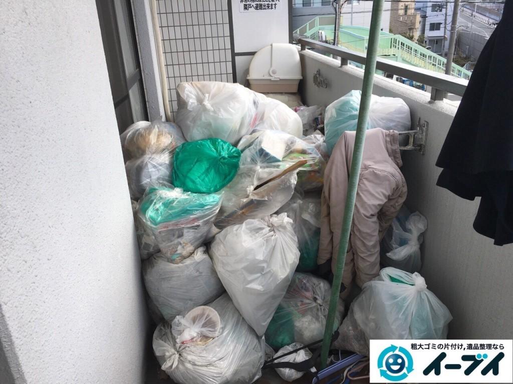2017年1月17日 大阪府交野市でベランダや部屋に溢れているゴミ屋敷の片付けをしました。写真4