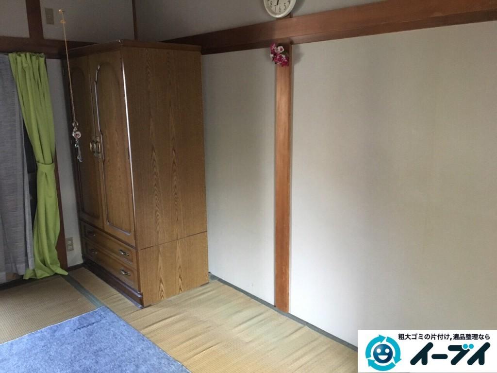 12月5日 大阪府大阪市都島区で遺品整理に伴う家具や粗大ゴミの片付けをしました。写真3