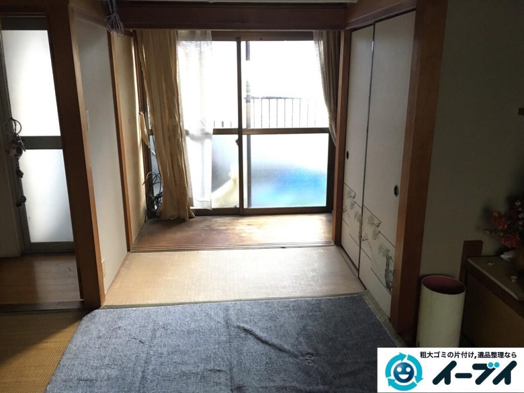 12月5日 大阪府大阪市都島区で遺品整理に伴う家具や粗大ゴミの片付けをしました。写真1