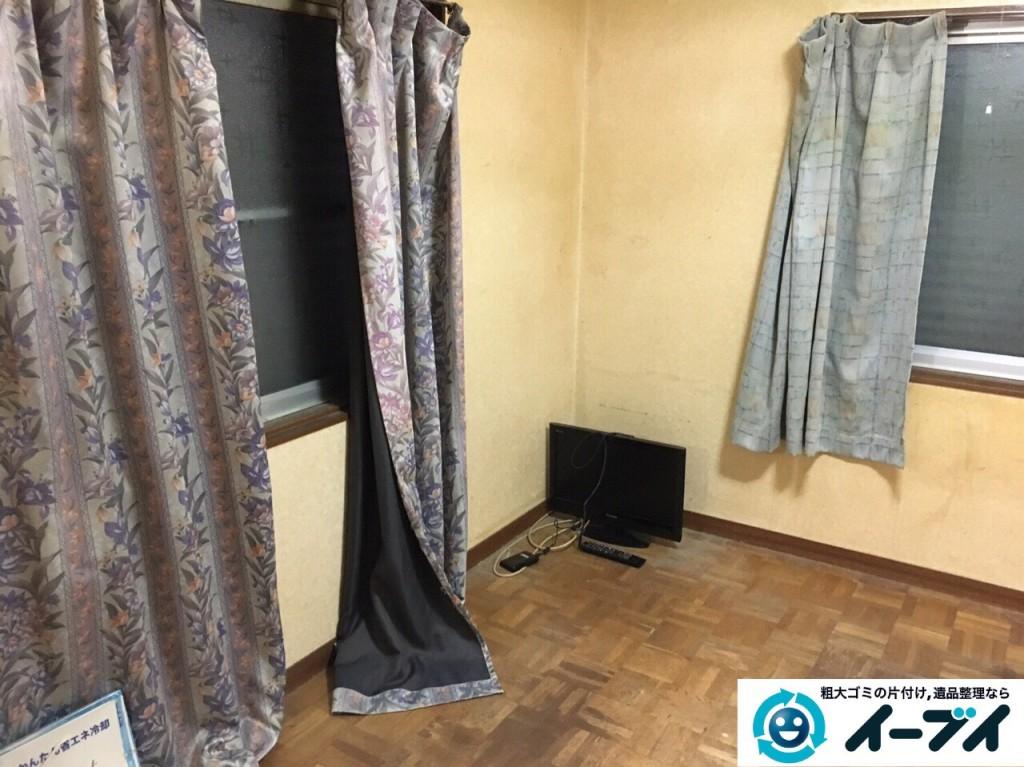 1月11日 大阪府堺市西区で遺品整理に伴う家財道具の処分をしました。写真1