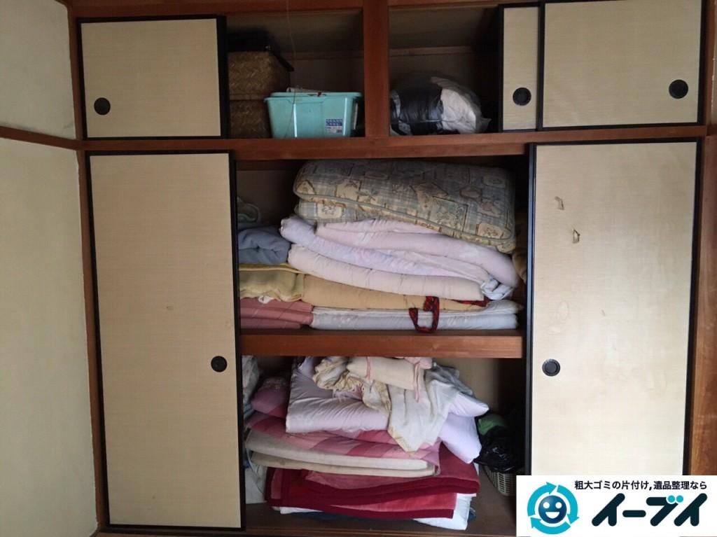 1月9日 大阪府大阪市福島区で遺品整理に伴う布団や嫁入りタンスの家具処分をしました。写真3