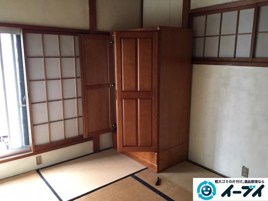 1月9日 大阪府大阪市福島区で遺品整理に伴う布団や嫁入りタンスの家具処分をしました。写真1