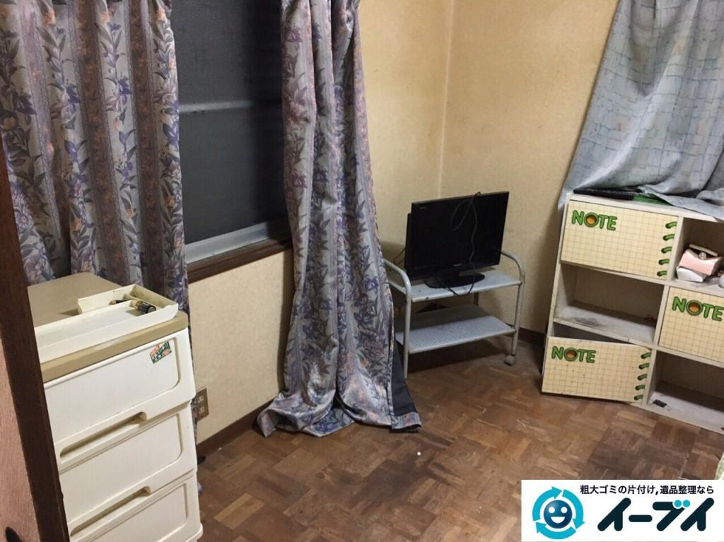 1月11日 大阪府堺市西区で遺品整理に伴う家財道具の処分をしました。写真2