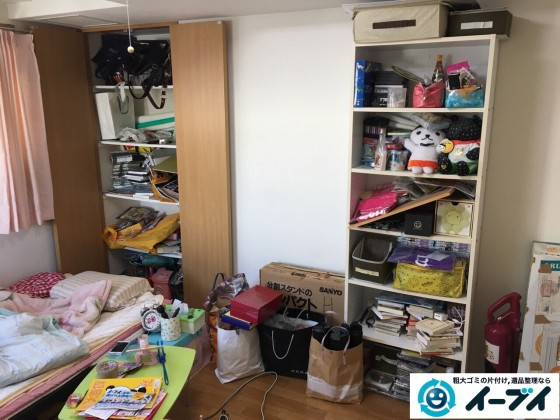 1月12日 大阪府堺市中区で引越しに伴いベッドや粗大ゴミを片付けました。写真3