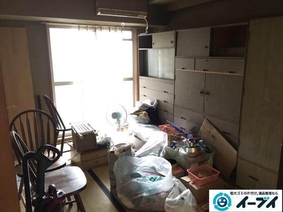 2017年1月23日大阪府堺市美原区で大型家具やイスなど粗大ゴミの不用品回収をしました。写真1