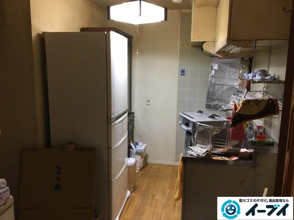 2017年1月25日大阪府三島郡島本町で食器棚や冷蔵庫など細々した粗大ゴミの処分をしました。写真5