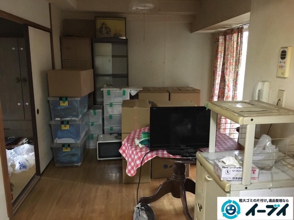 2017年1月25日大阪府三島郡島本町で食器棚や冷蔵庫など細々した粗大ゴミの処分をしました。写真4