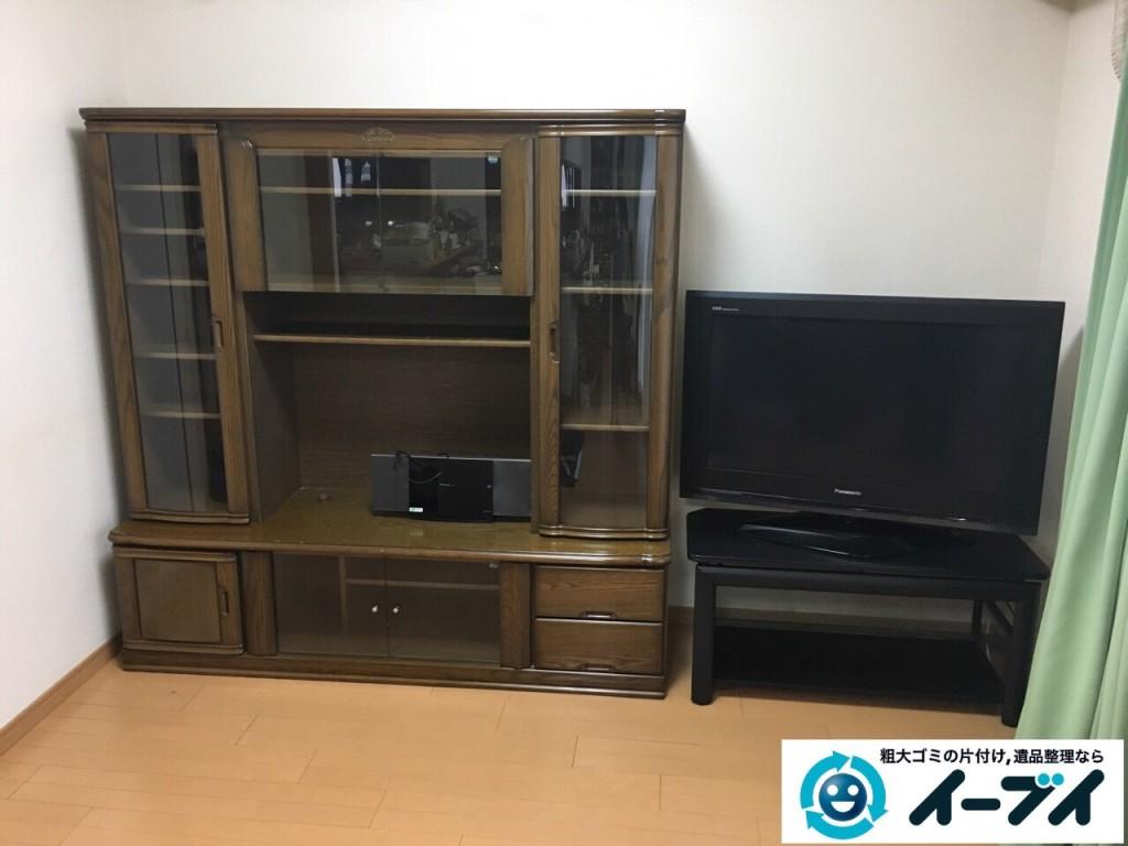2017年1月28日大阪府和泉市でテレビボードと学習机と粗大ゴミの家具処分をしました。写真3