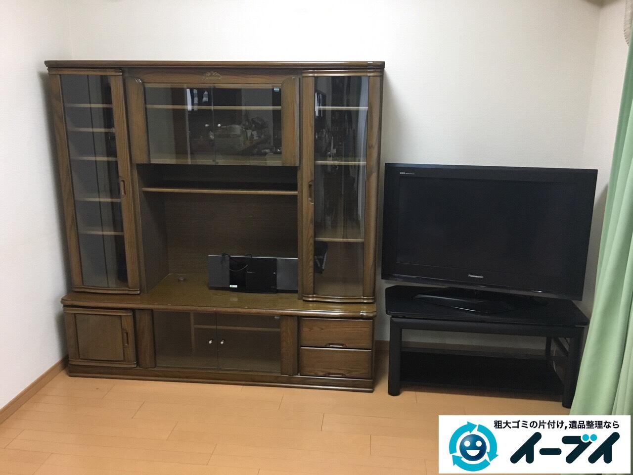 大阪府和泉市でテレビボードと学習机と粗大ゴミの家具処分をしました