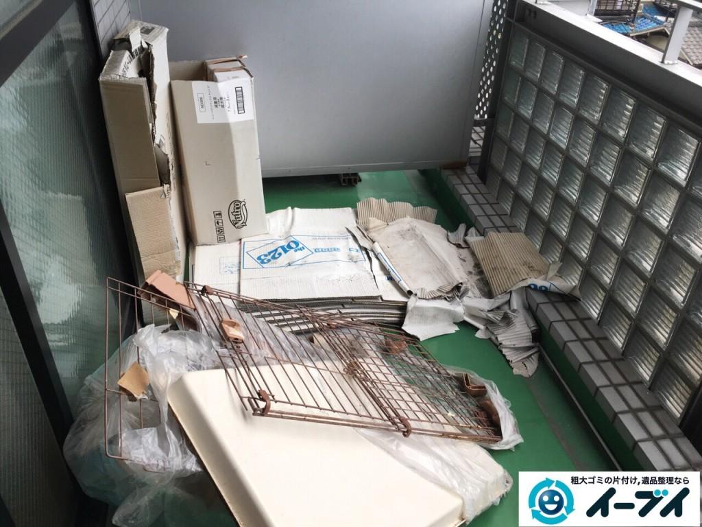 2017年1月27日大阪府泉南郡熊取町でソファーやベランダの廃品や粗大ゴミの不用品回収をしました。写真4