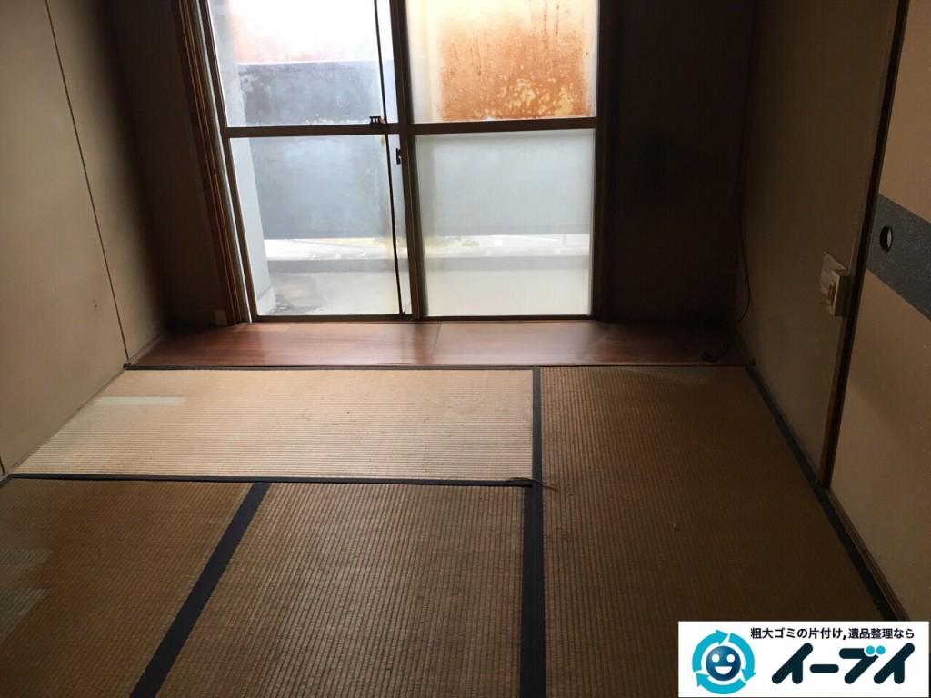 12月3日 大阪府大阪市大正区で遺品整理に伴う粗大ゴミや家具処分をしました。写真2