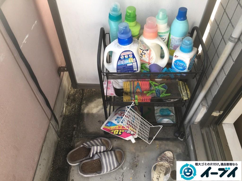 12月4日 大阪府大阪市中央区で洗濯機や洗剤などの粗大ゴミの不用品回収をしました。写真3
