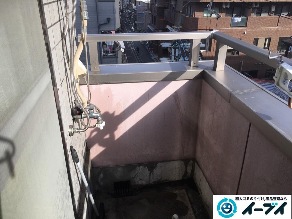 12月4日 大阪府大阪市中央区で洗濯機や洗剤などの粗大ゴミの不用品回収をしました。写真1