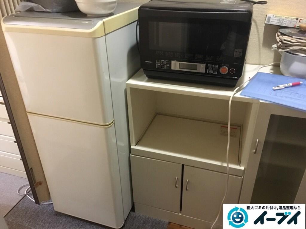1月15日 大阪府堺市東区で冷蔵庫やレンジ台など粗大ゴミの不用品回収をしました。写真2