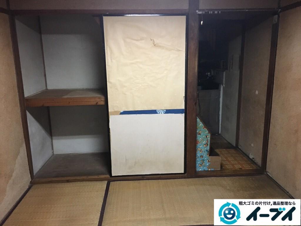 2017年1月29日大阪府門真市で遺品整理に伴い家具処分や生活用品の処分をしました。写真6