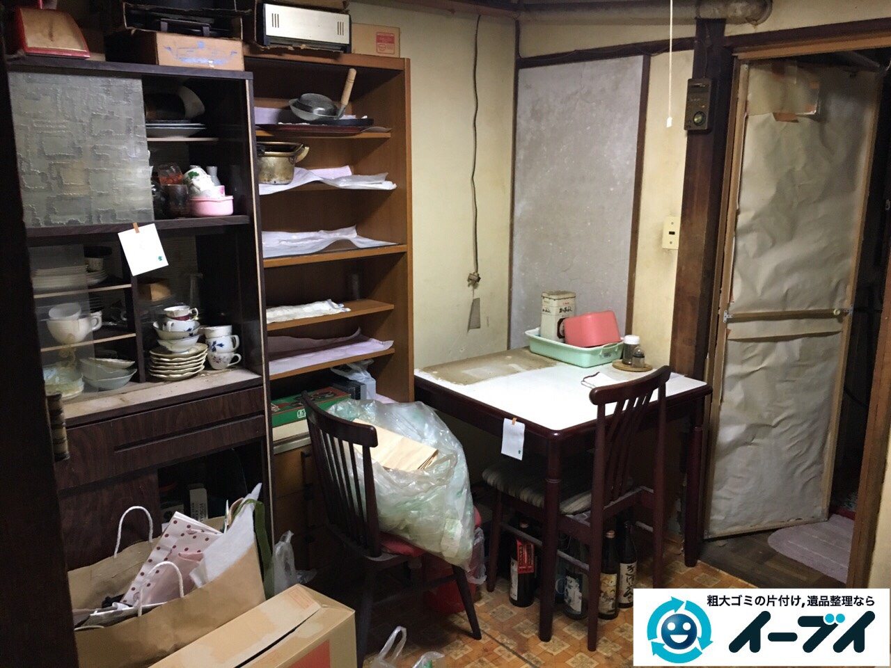 2017年1月29日大阪府門真市で遺品整理に伴い家具処分や生活用品の処分をしました。写真3