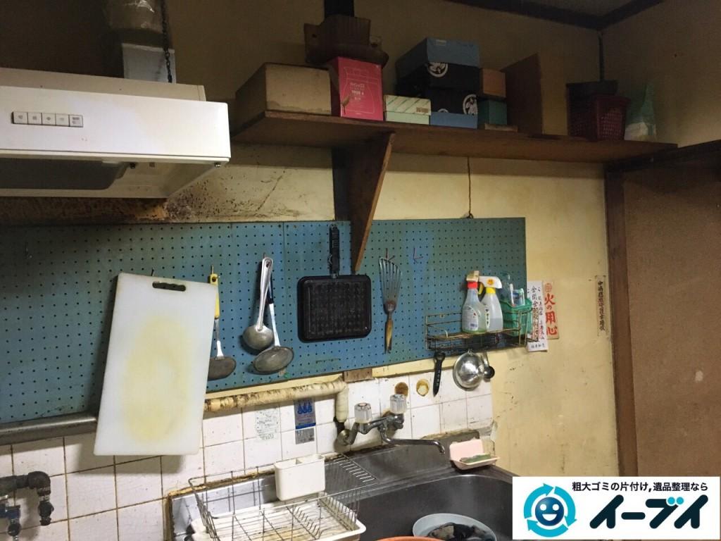2017年1月29日大阪府門真市で遺品整理に伴い家具処分や生活用品の処分をしました。写真1