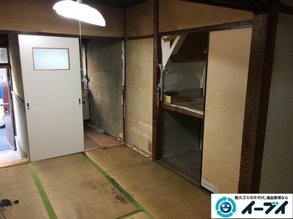 2017年2月6日大阪府東大阪市で遺品整理に伴い家具処分や生活用品の粗大ゴミを処分しました。写真6