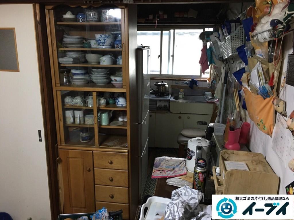 2017年2月6日大阪府東大阪市で遺品整理に伴い家具処分や生活用品の粗大ゴミを処分しました。写真5