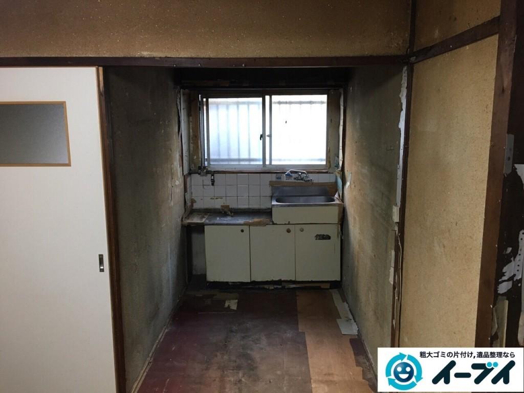 2017年2月6日大阪府東大阪市で遺品整理に伴い家具処分や生活用品の粗大ゴミを処分しました。写真4