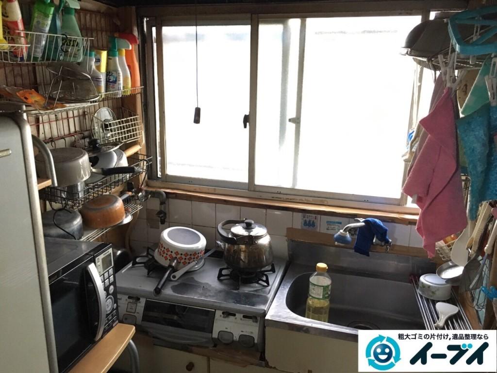 2017年2月6日大阪府東大阪市で遺品整理に伴い家具処分や生活用品の粗大ゴミを処分しました。写真3