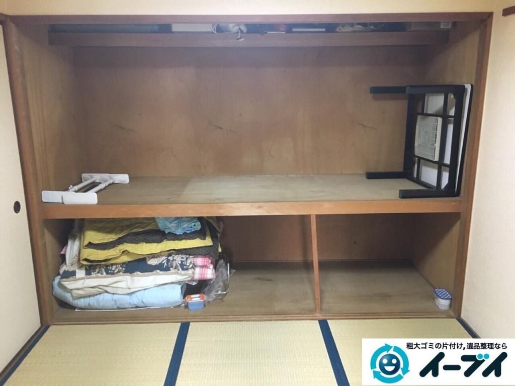 2017年3月2日大阪府大阪市阿倍野区で大型家具や押し入れの布団や粗大ゴミの不用品回収をしました。写真1