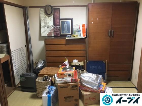 2017年3月2日大阪府大阪市阿倍野区で大型家具や押し入れの布団や粗大ゴミの不用品回収をしました。写真2