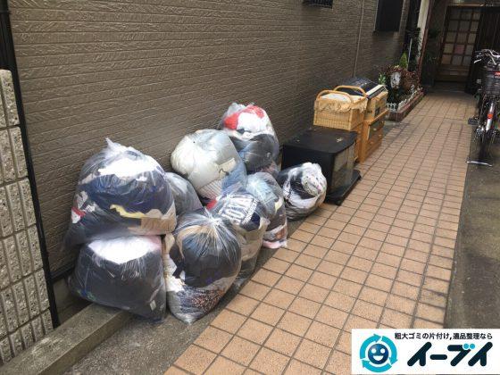 2017年3月7日大阪府大阪市都島区で婚礼家具や衣類などの粗大ゴミの不用品回収をしました。写真1
