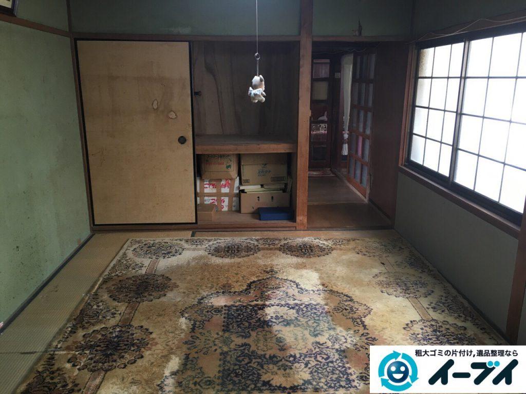 2017年3月4日大阪府大阪市鶴見区で大型家具の処分や生活ゴミや粗大ゴミの不用品回収をしました。写真1