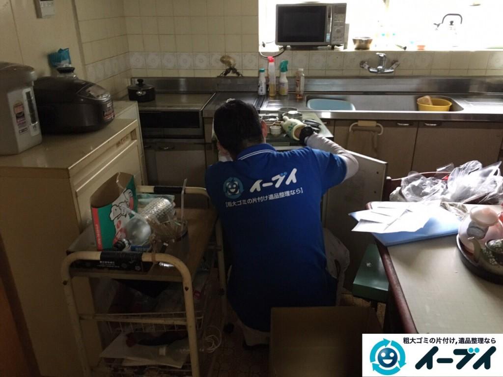 2017年2月5日大阪府柏原市で食器棚や調理器具など粗大ゴミの片付けをしました。写真6