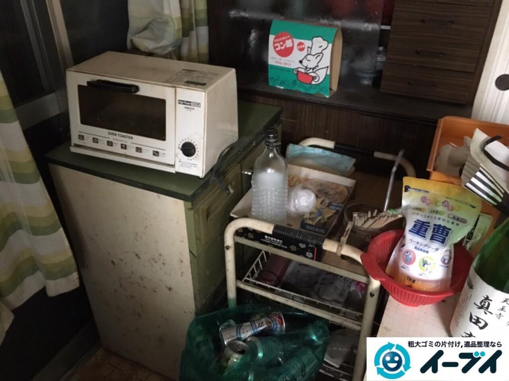 2017年2月5日大阪府柏原市で食器棚や調理器具など粗大ゴミの片付けをしました。写真3