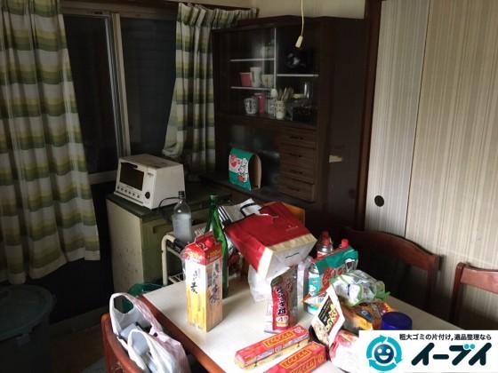 2017年2月5日大阪府柏原市で食器棚や調理器具など粗大ゴミの片付けをしました。写真2